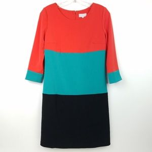 ADORE ANTHROPOLOGIE Womens Shift Dress Color Block